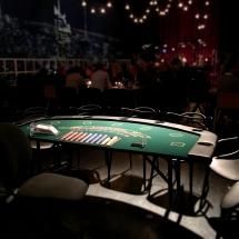 Black Jack bord lige inden event