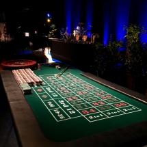Roulette på blå baggrund